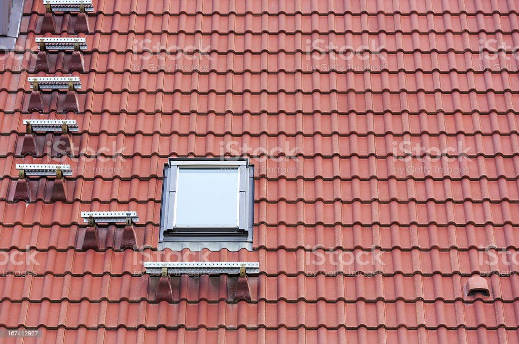 Red roof and window royalty-free stock photo