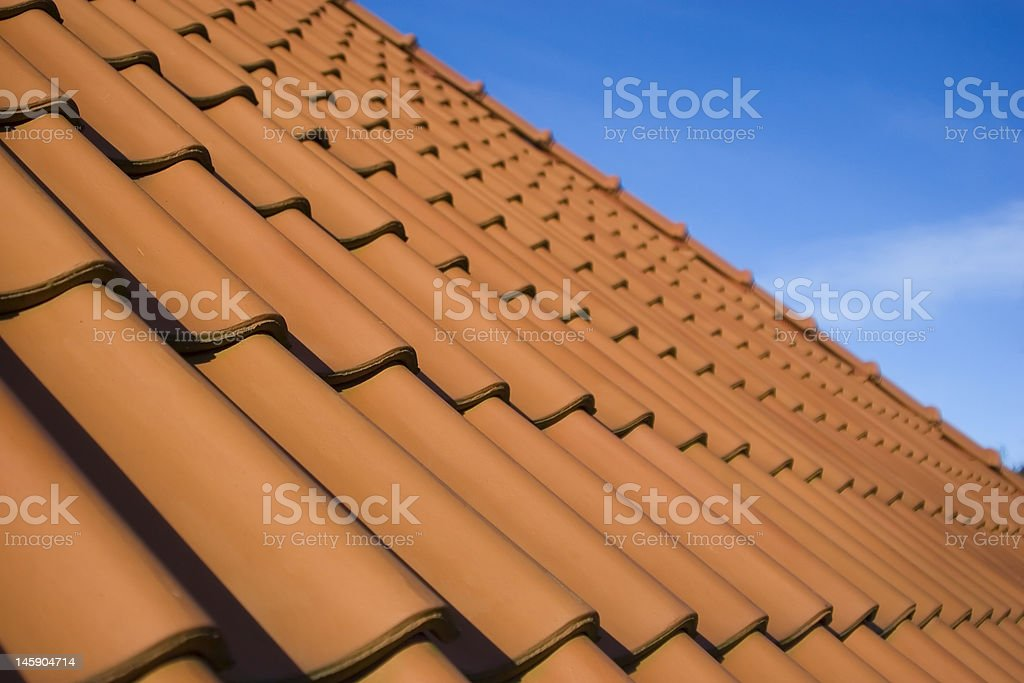Red roof royalty-free stock photo