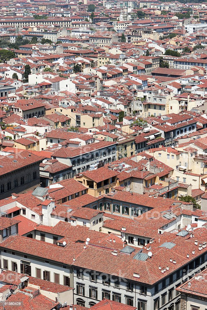 Red roofs city royalty-free stock photo