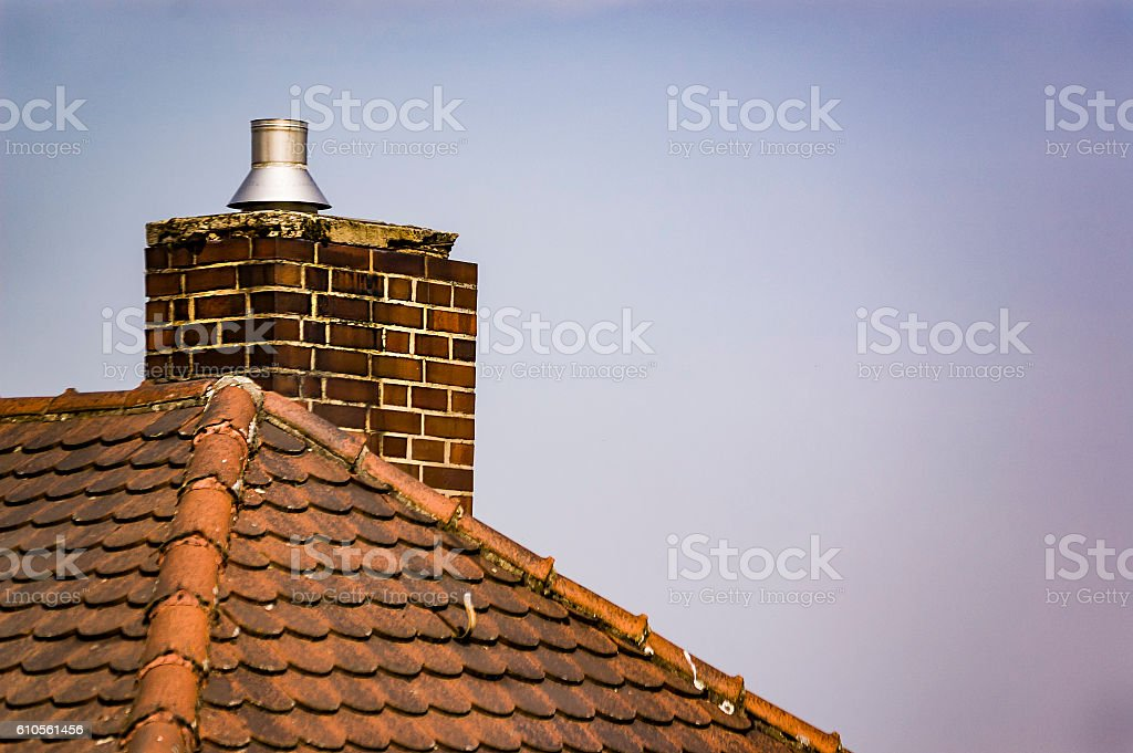 Red roofs of old German towns stock photo