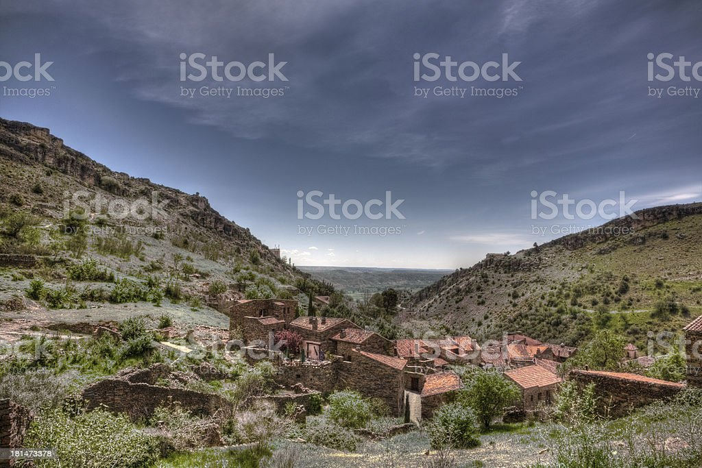 Red roofs royalty-free stock photo