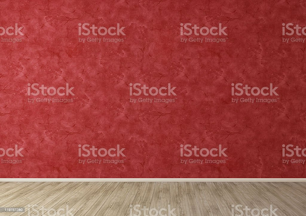 Red Room Stucco Wall royalty-free stock photo