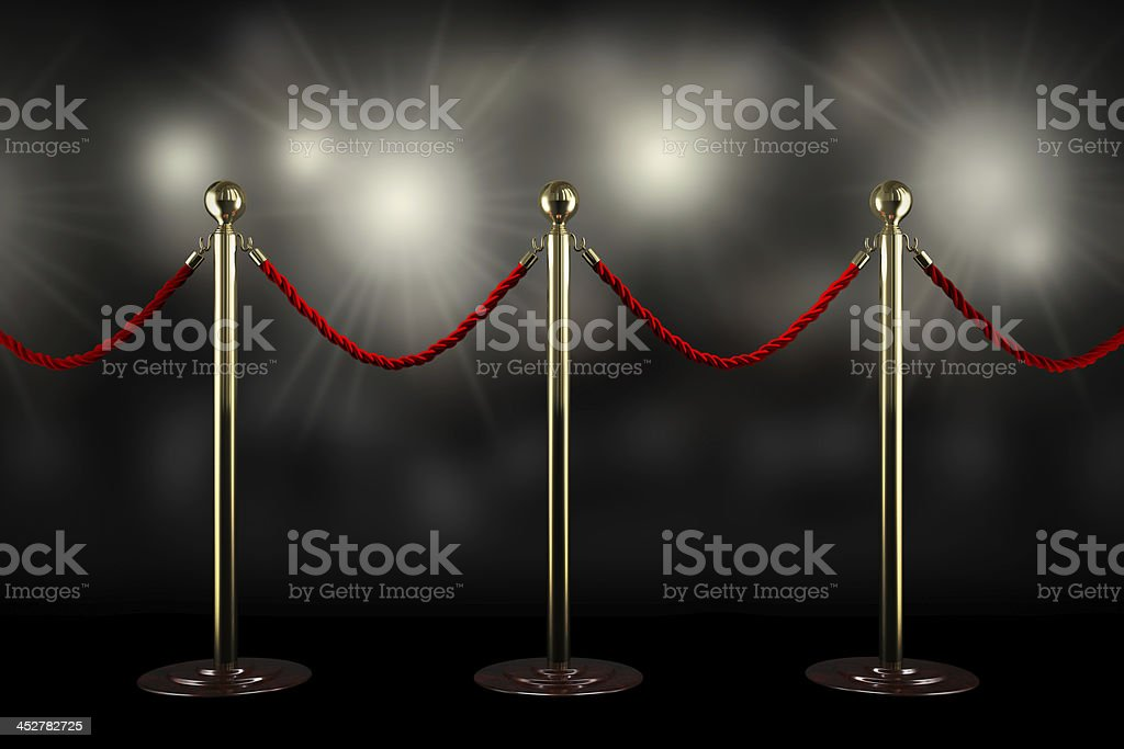 Red rope barrier royalty-free stock photo