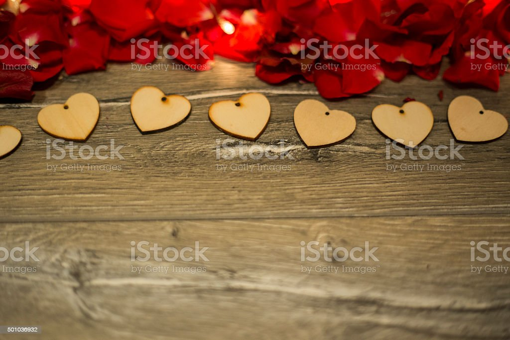 Red Rose Heart for Valentine's day stock photo