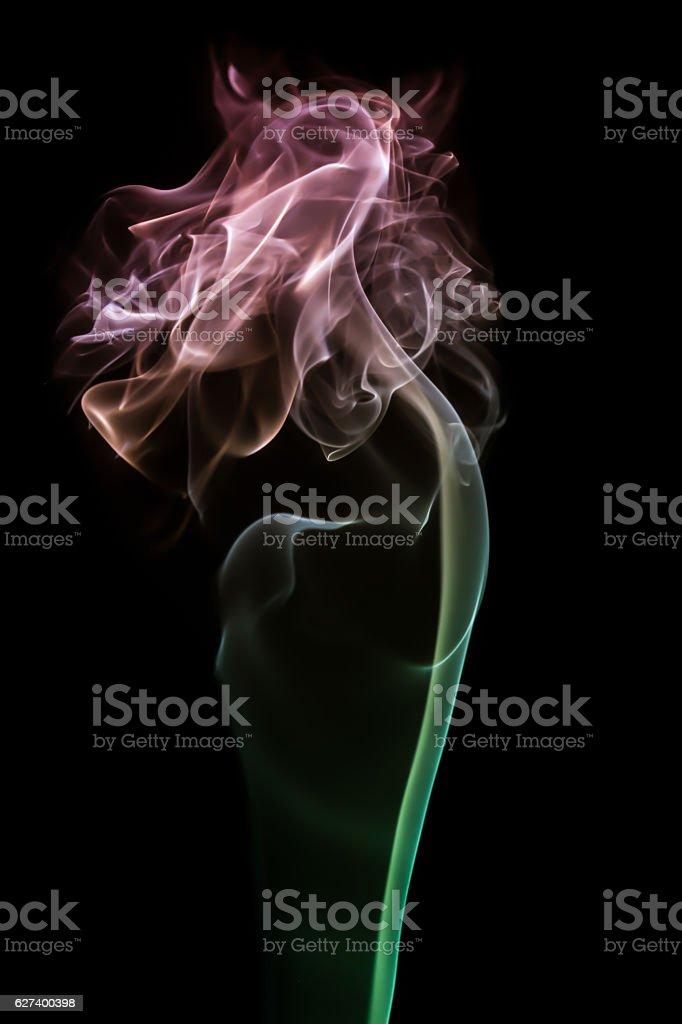 Red Rose Smoke stock photo