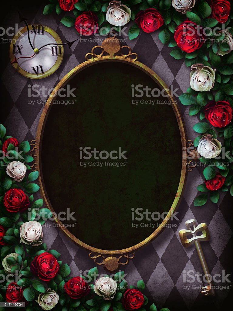 Red  roses and white roses on  chess background stock photo