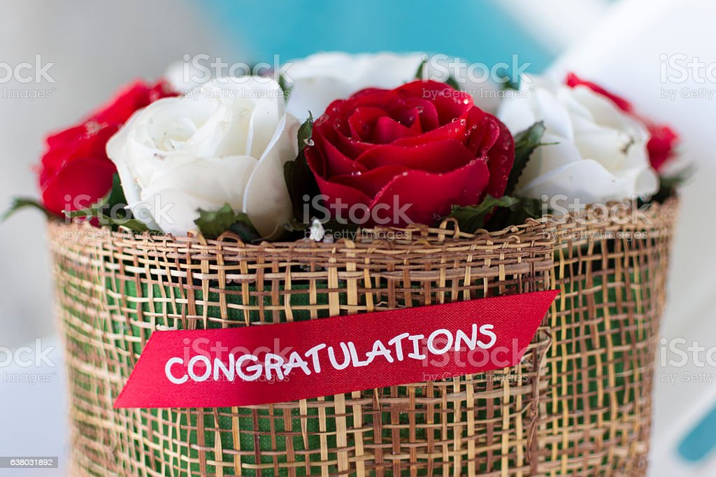 Red roses bouquet - beautiful floral background stock photo
