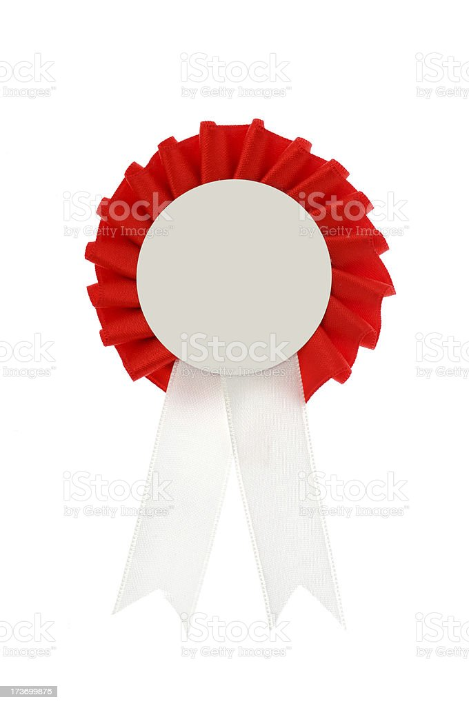 Red Rosette royalty-free stock photo