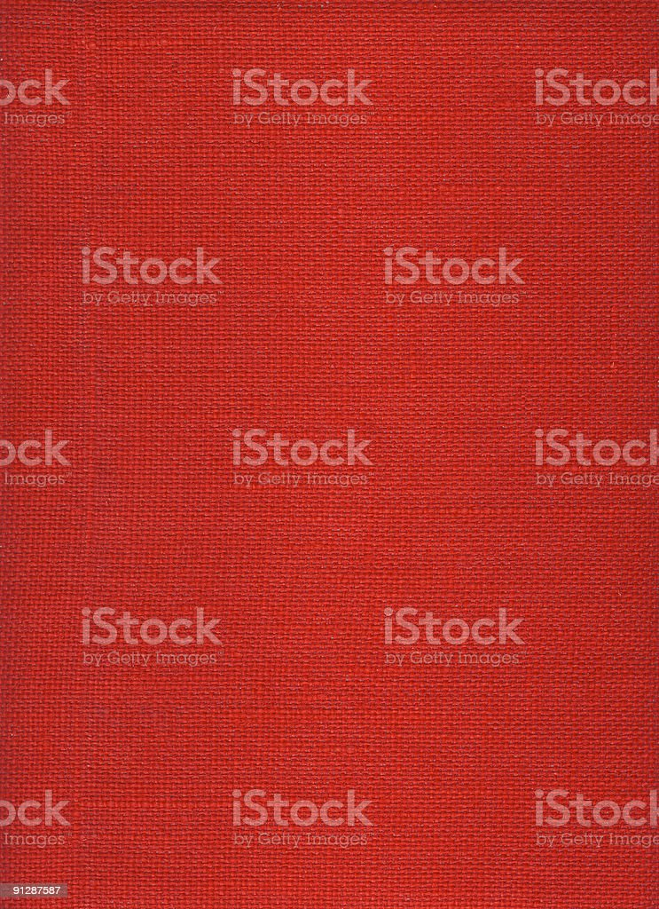 Red rough burlap canvas texture and background stock photo
