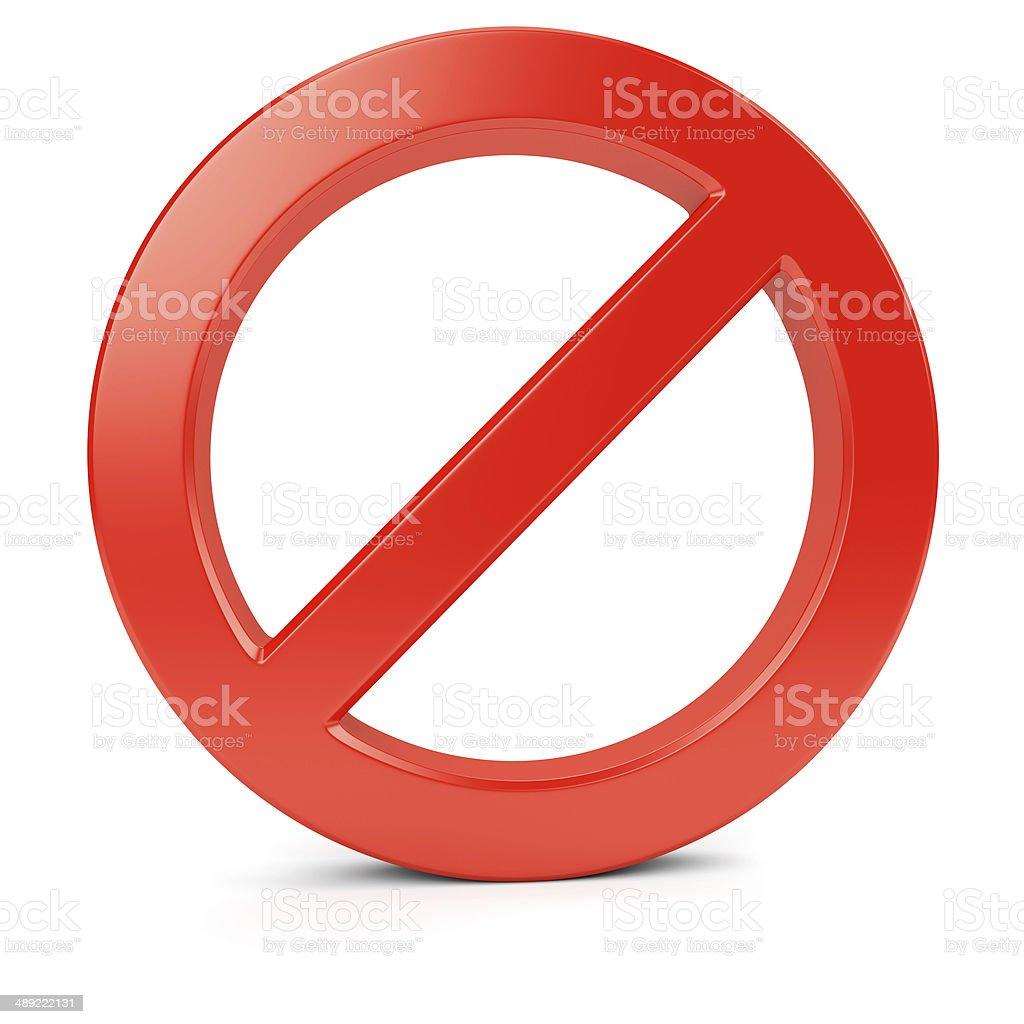 Red round forbidden symbol 3 stock photo