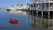 Red Row Boat in Nantucket