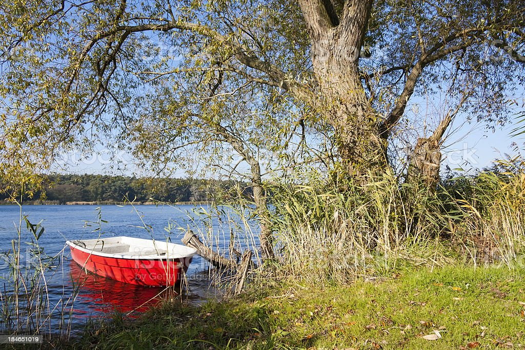 Red Rowboat royalty-free stock photo