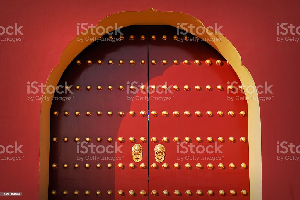 Red Royal Gates royalty-free stock photo