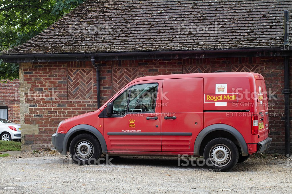 Red Royal Mail Post Office van stock photo
