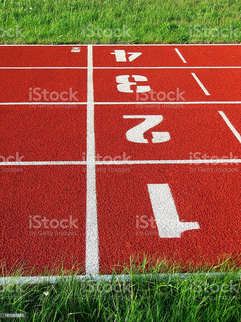 Red Running Track royalty-free stock photo