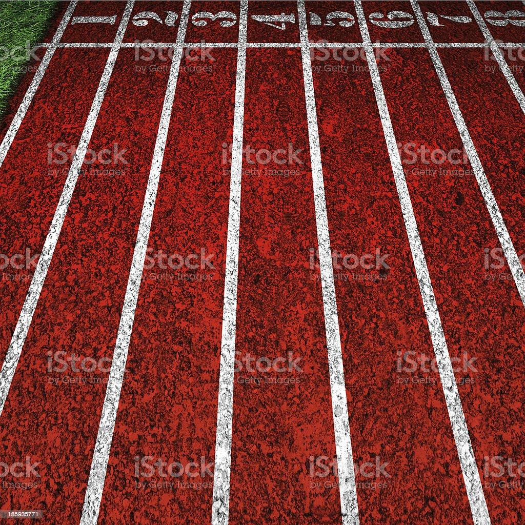red running tracks royalty-free stock photo