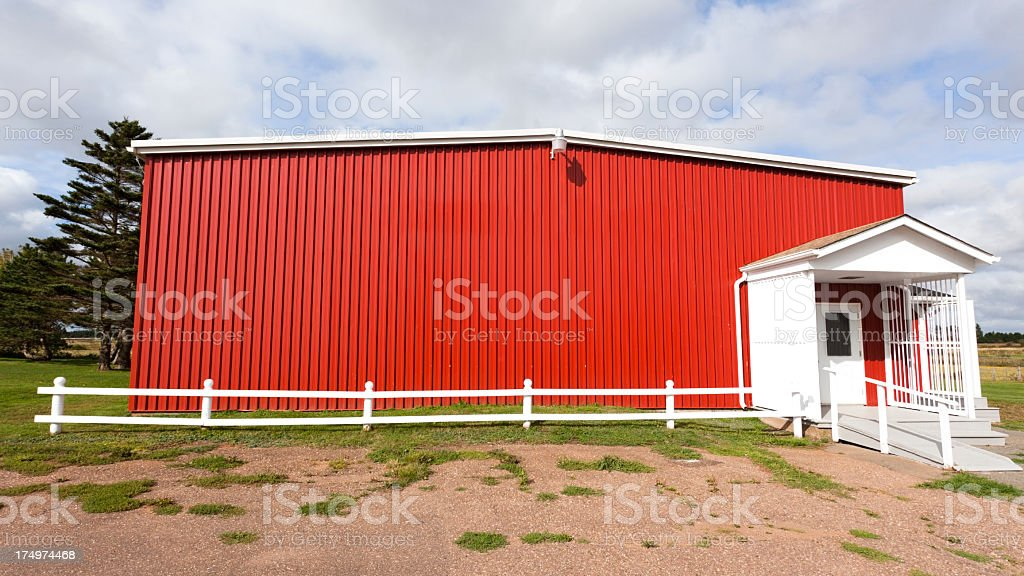 Red Rural Building royalty-free stock photo