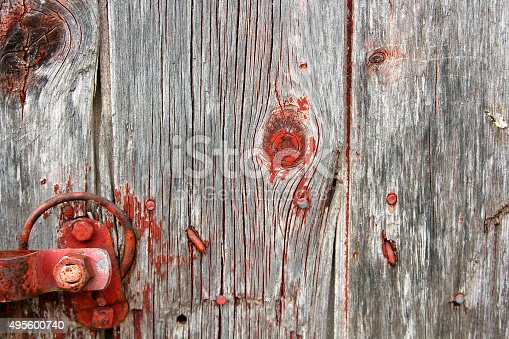 Barn Wood Background red rustic barn wood background with latch hardware stock photo