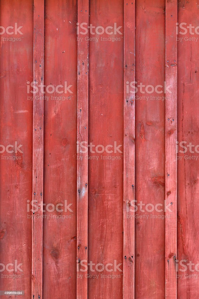 Red Rustic Board and Batten Barn Wood Background stock photo
