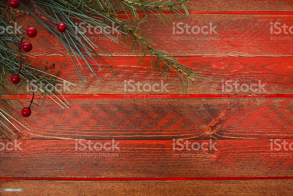 Red Rustic Christmas royalty-free stock photo