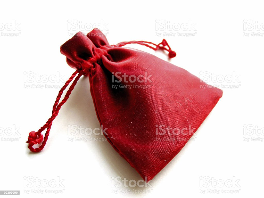 Red sachet white background royalty-free stock photo