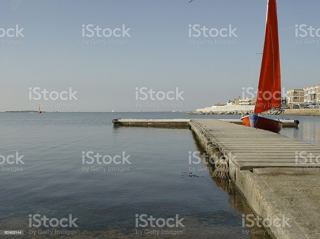 Red Sail stock photo