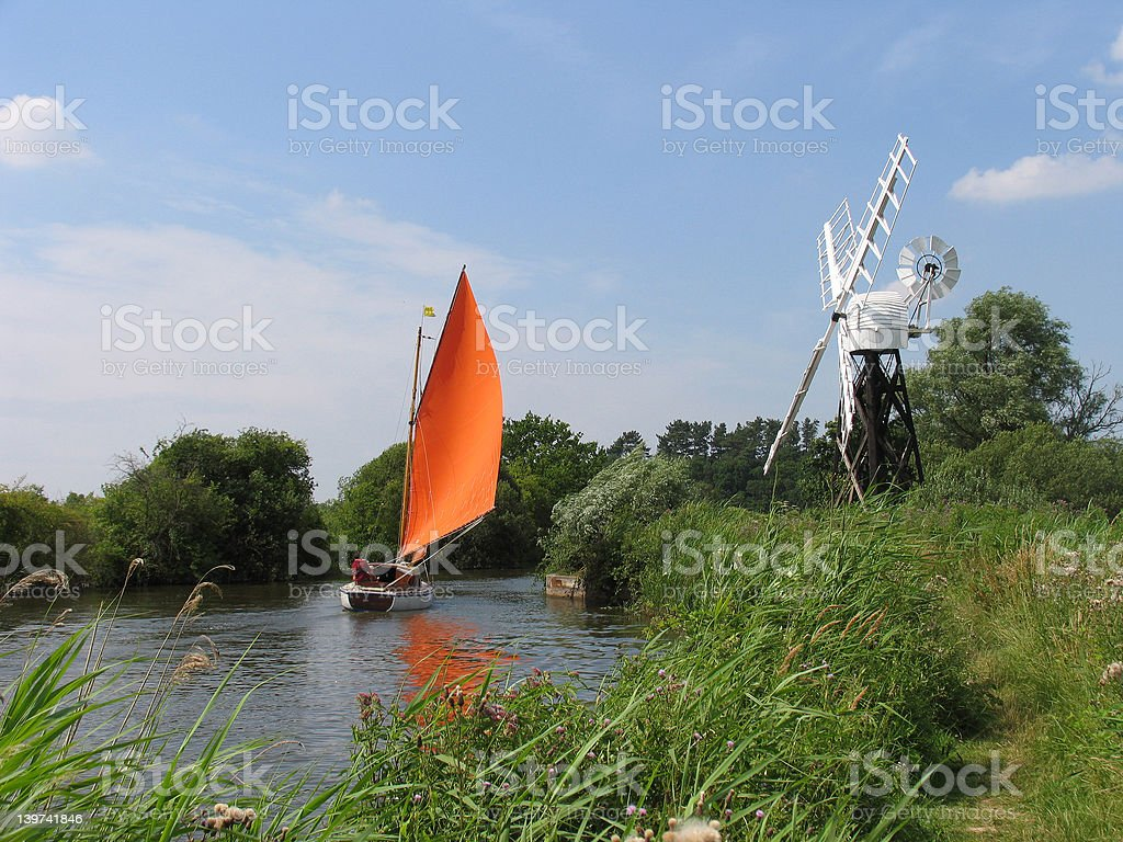 Red Sails in the Sunset royalty-free stock photo