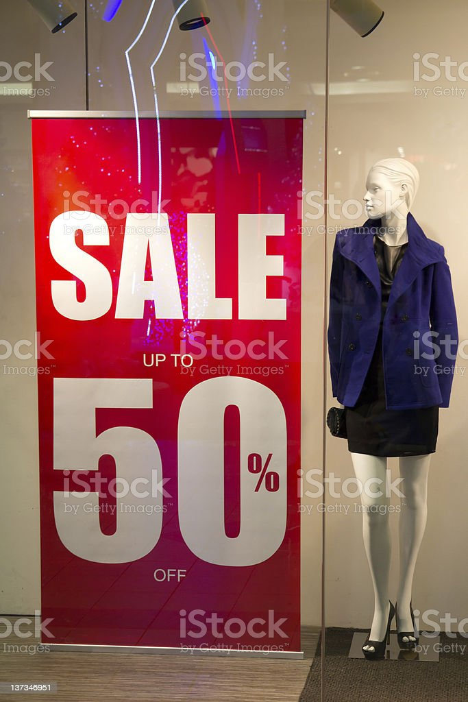 Red sale banner royalty-free stock photo