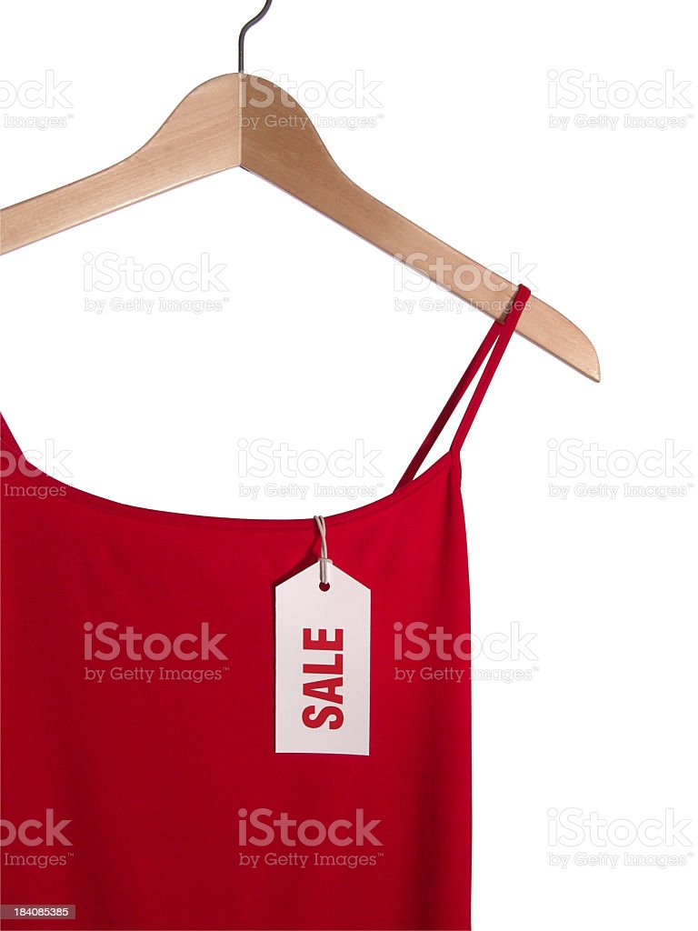 Red Sale Dress stock photo