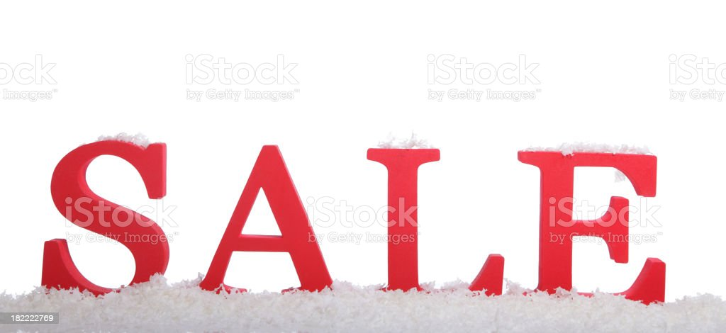 Red Sale On Snow Flakes royalty-free stock photo