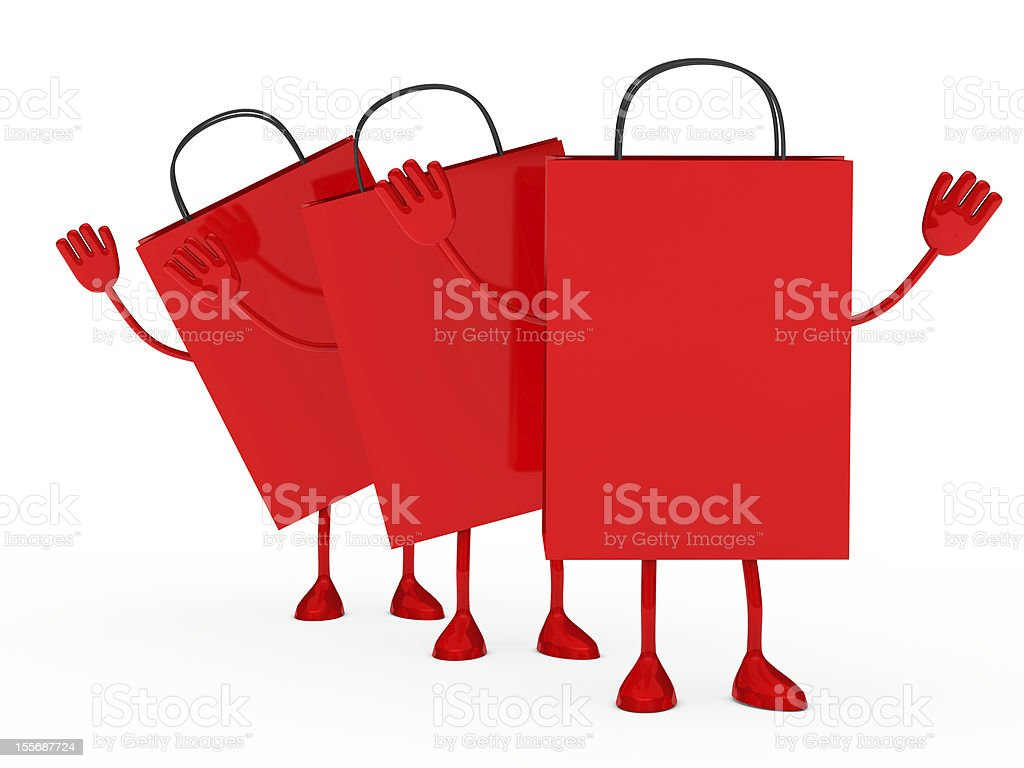 Red sale percent bags wave royalty-free stock photo
