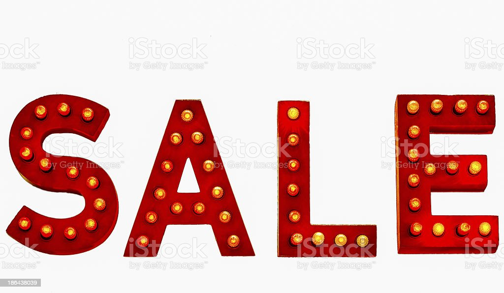 Red Sale Sign royalty-free stock photo