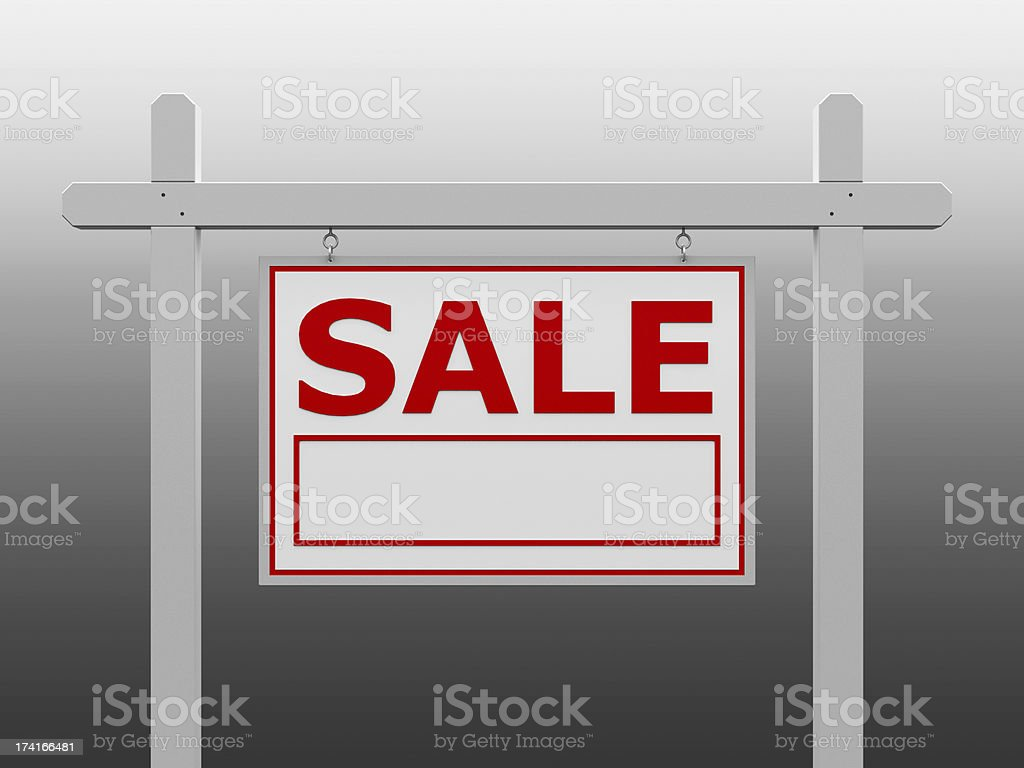 Red sale signpost royalty-free stock photo