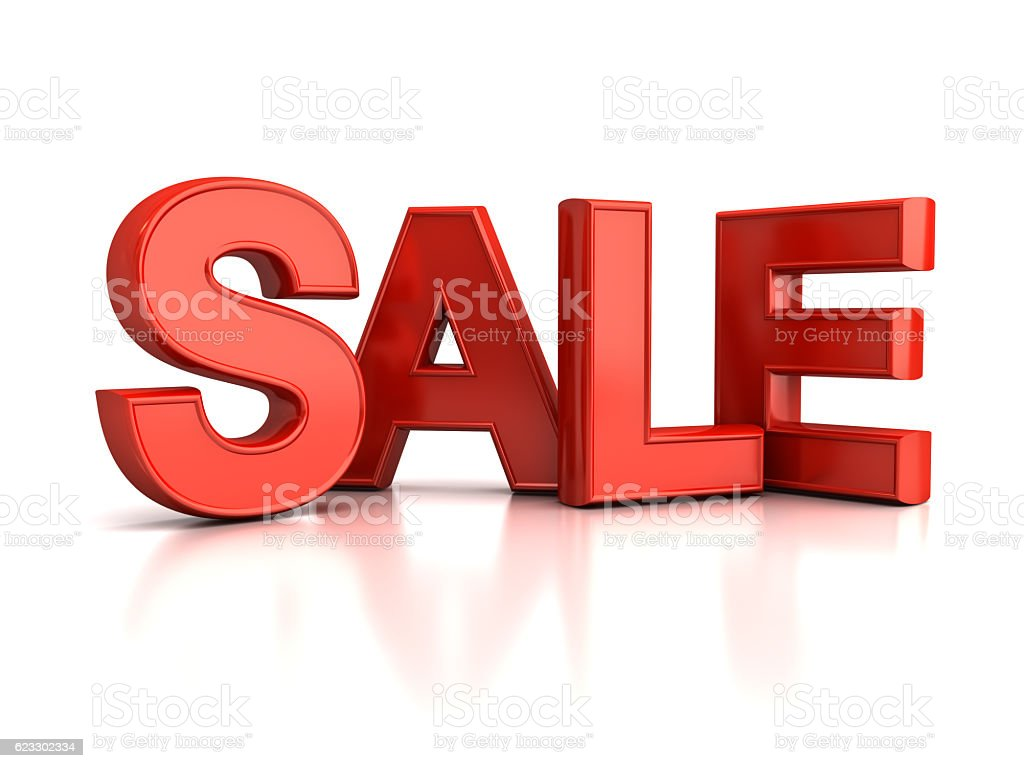Red Sale Text stock photo