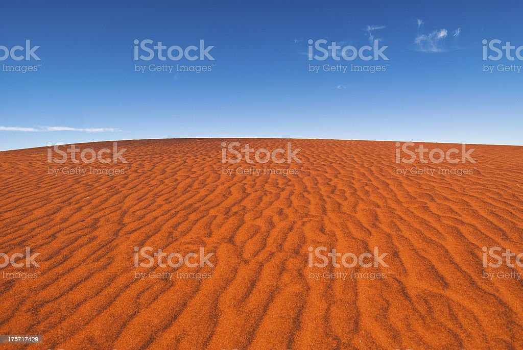 Red sand dune royalty-free stock photo