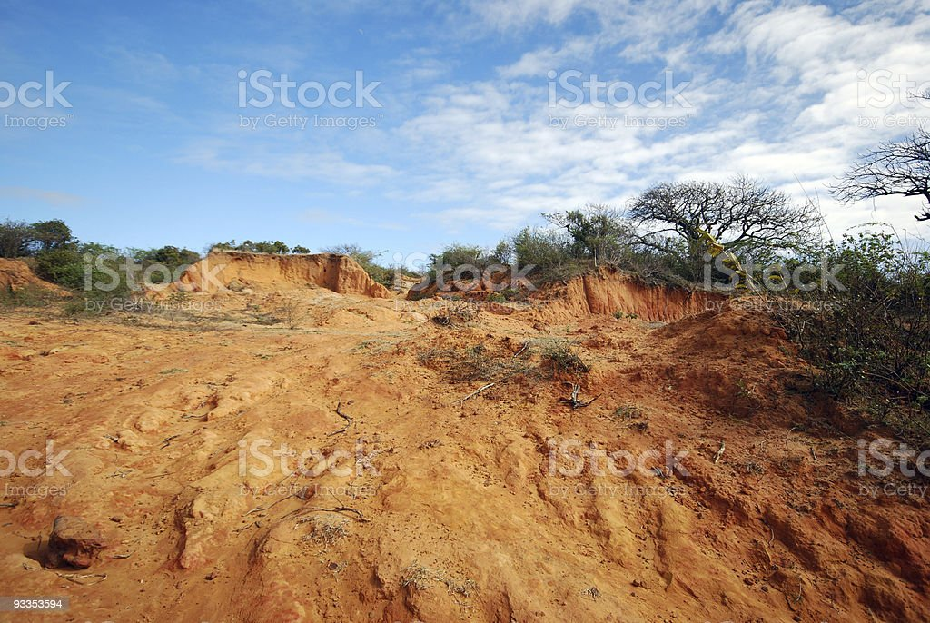 red sand in Madagascar stock photo
