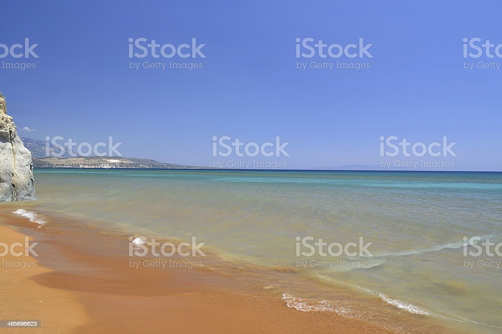 Red Sandy Beach stock photo