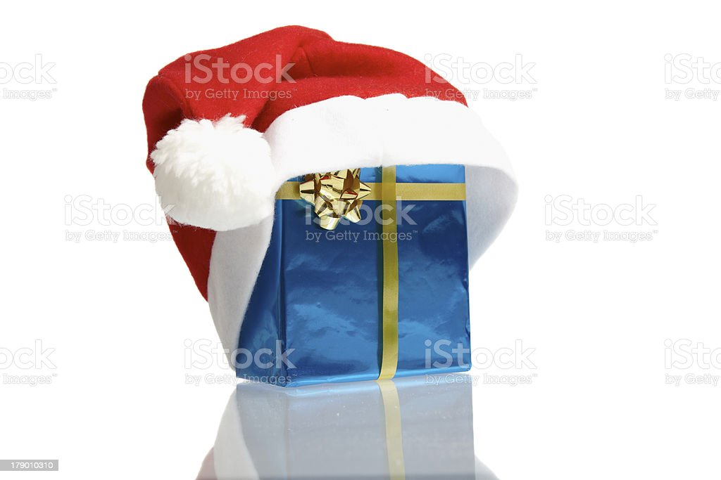 Red Santa claus cap royalty-free stock photo