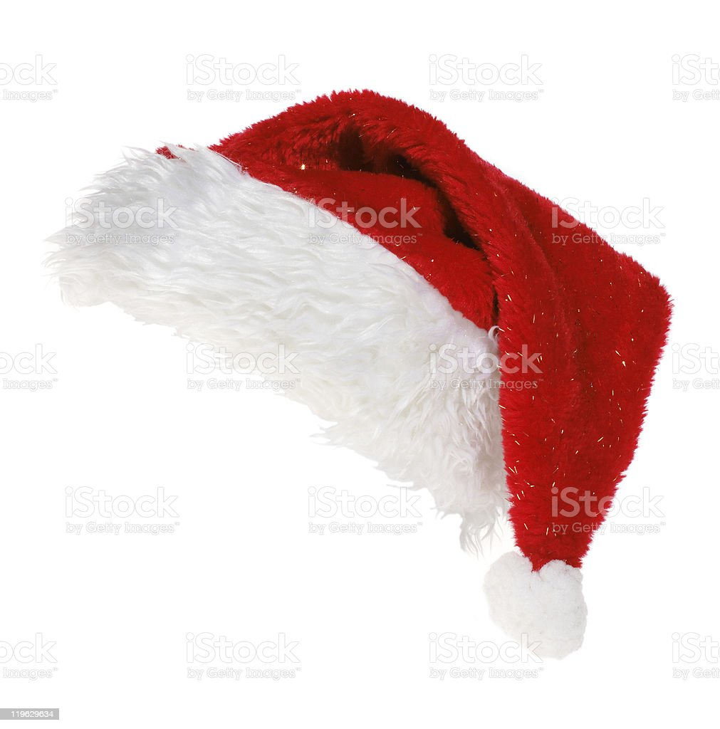 red Santa Claus hat royalty-free stock photo