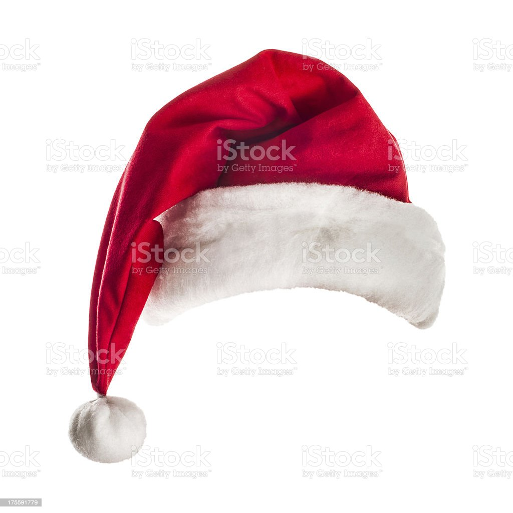 Red Santa hat for Christmas time stock photo