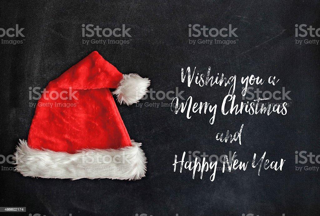 Red Santa Hat stock photo