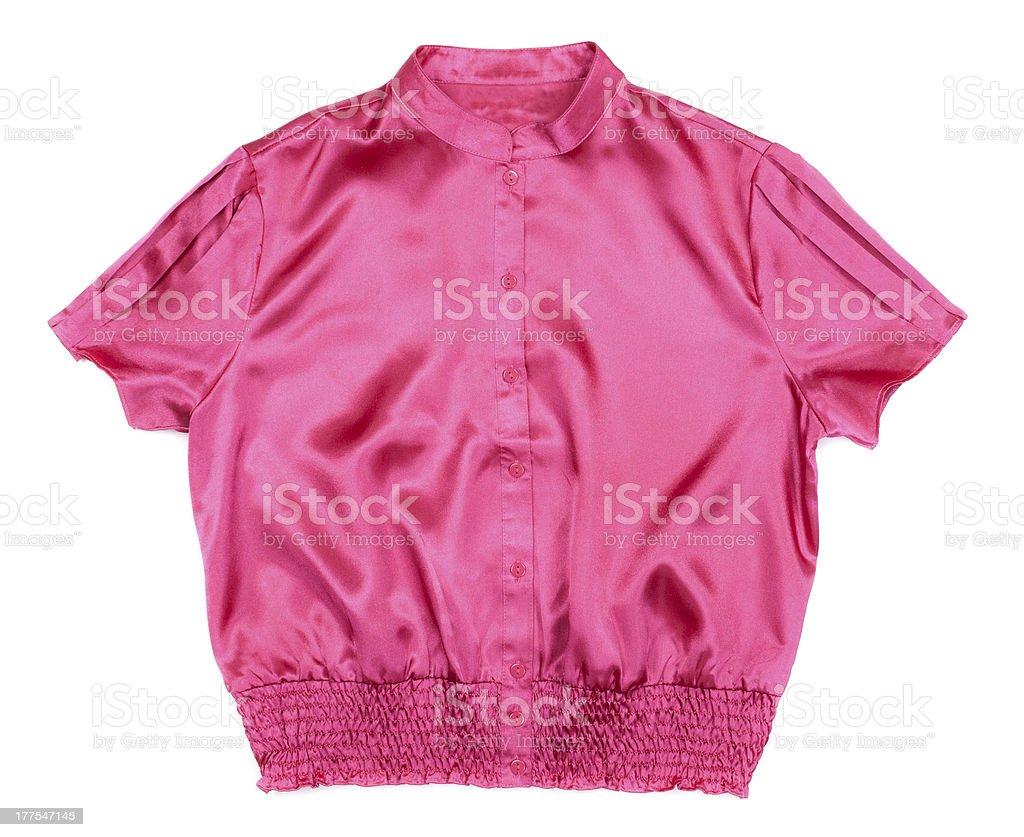 red satin blouse Women's Fashion stock photo