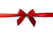 Red Satin Gift Bow (Clipping Path)