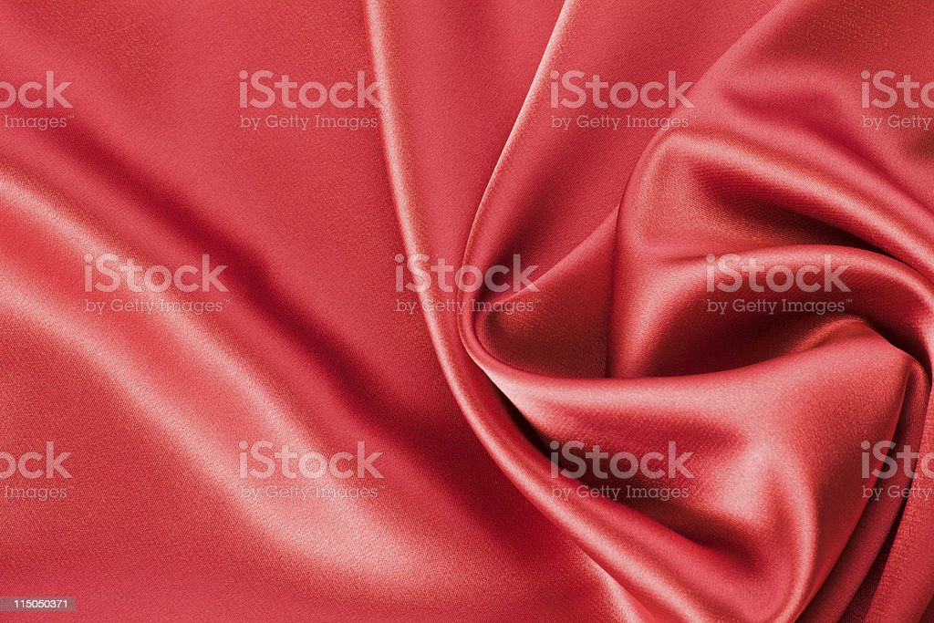 red satin or silk background royalty-free stock photo