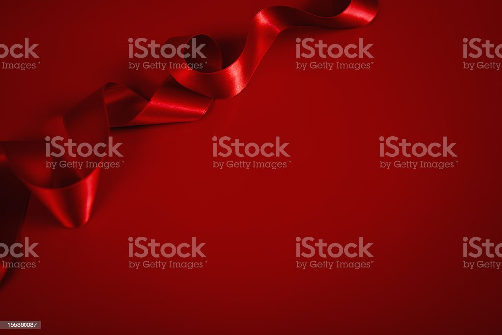 Red Satin ribbon Background royalty-free stock photo