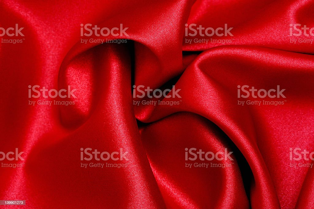 Red Satin Wave stock photo
