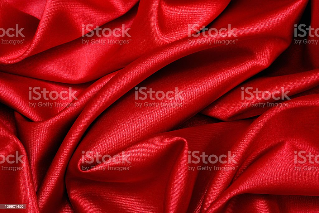 Red Satin Wave royalty-free stock photo