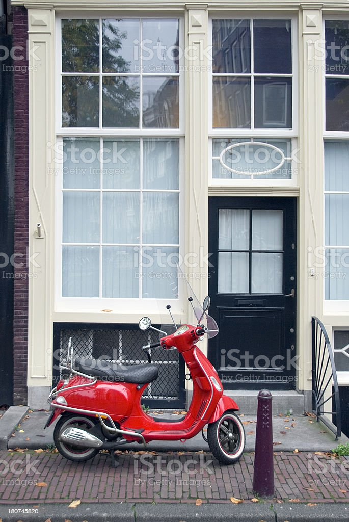 Red Scooter royalty-free stock photo
