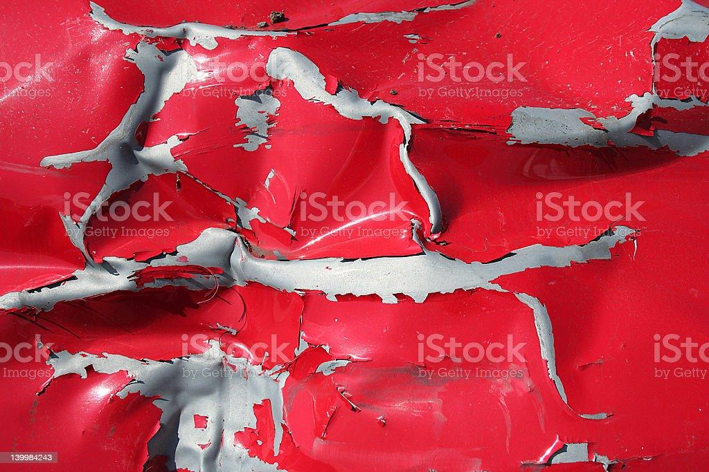 red scrap stock photo