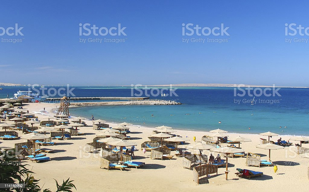 Red sea baech resort stock photo